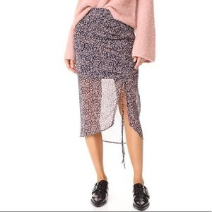 Rebecca Minkoff  Amaya side gathered skirt